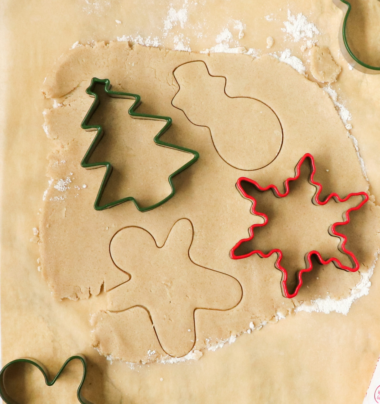 holiday shaped sugar cookies